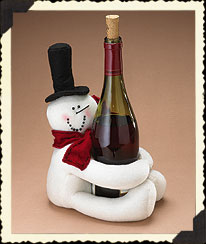 Snowman Wine Bottle Holder Boyds Bear