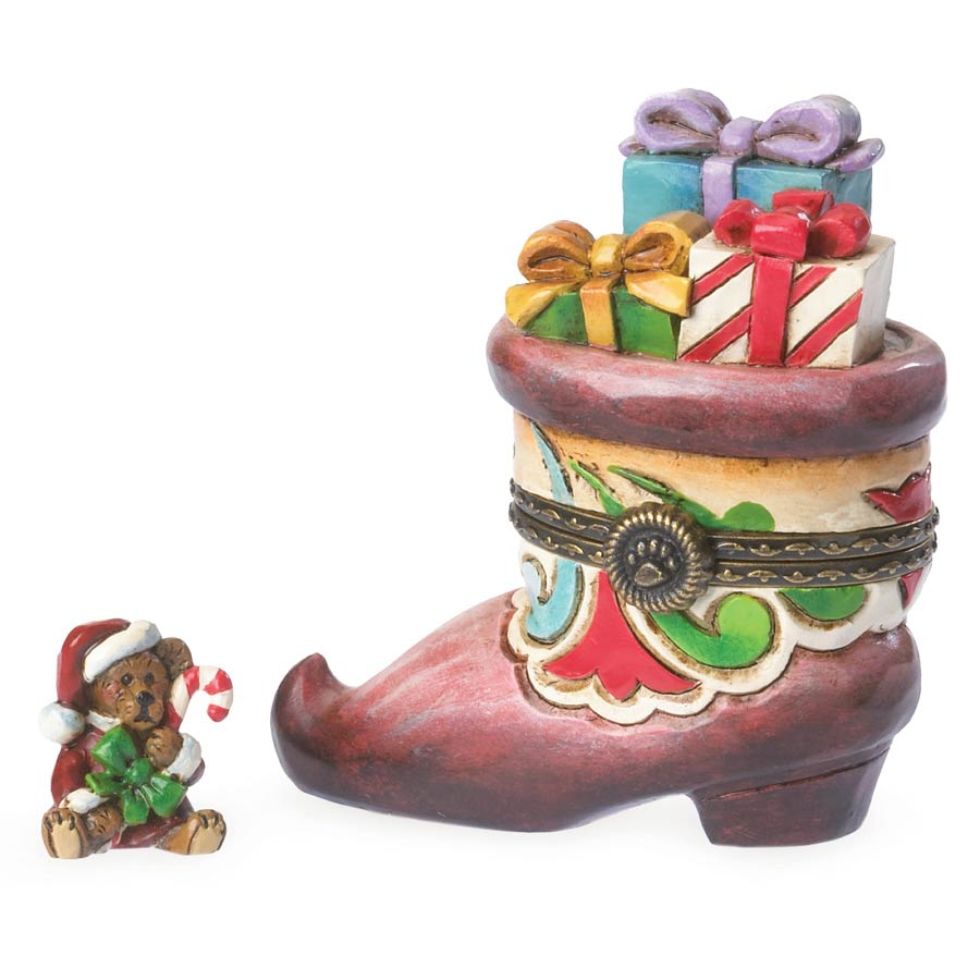 St. Nick's Boot With Kringle Boyds Bear