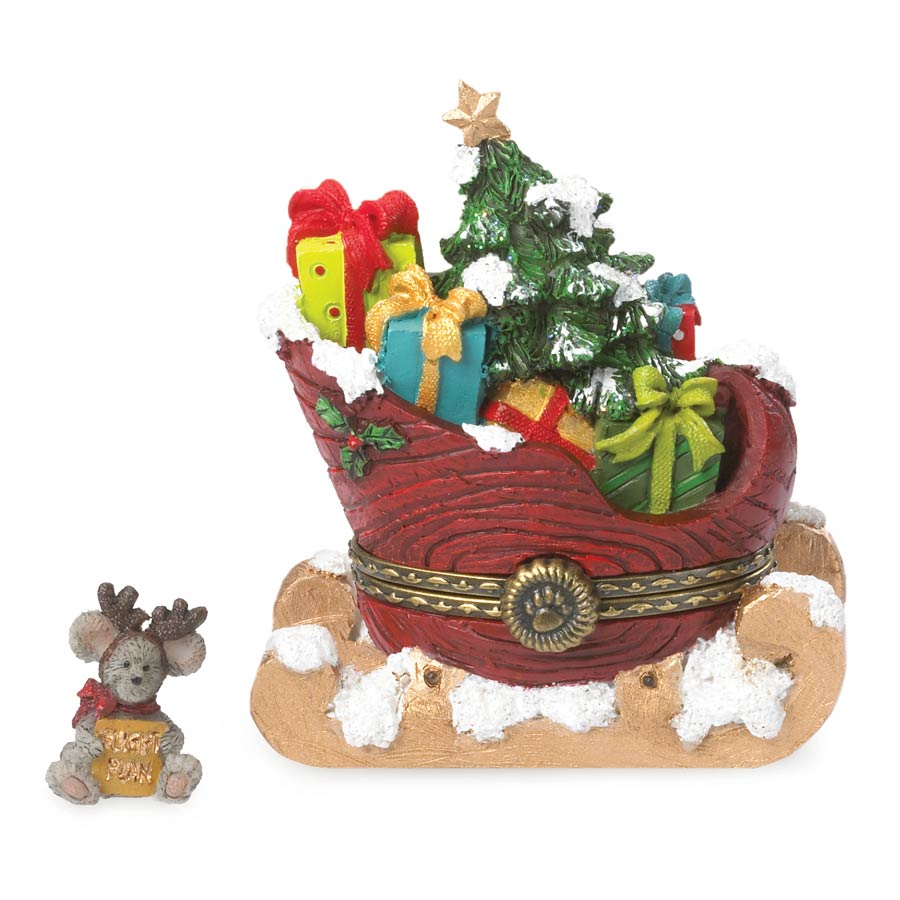 St. Nick's Sleigh With Orville Mcnibble Boyds Bear