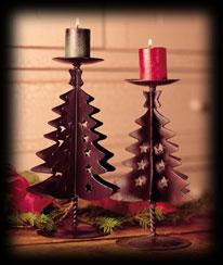 Stars 'n Spruce Candle Holders Boyds Bear