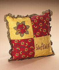 Sunflower Square Pillow Boyds Bear