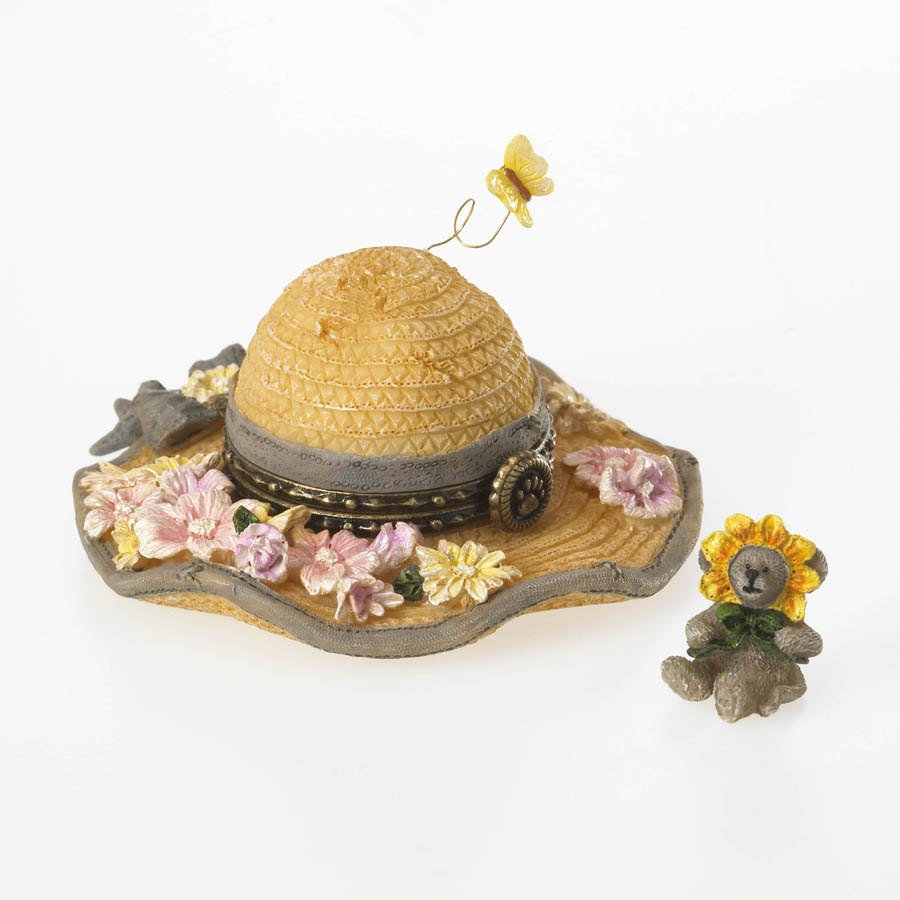 Sunny's Straw Hat With Daisy Mcnibble Boyds Bear