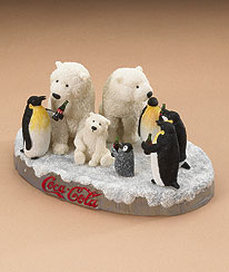 The Coca-cola ® Polar Bear And Penguin Figurine By Boyds Boyds Bear