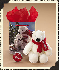 The Coca-cola® Polar Bear Gift Bag Set Boyds Bear