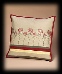 Ticking Rose Cushion Cover Boyds Bear