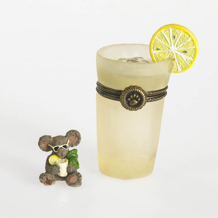 Trisha's Glass Of Lemonade With Pucker Mcnibble Boyds Bear