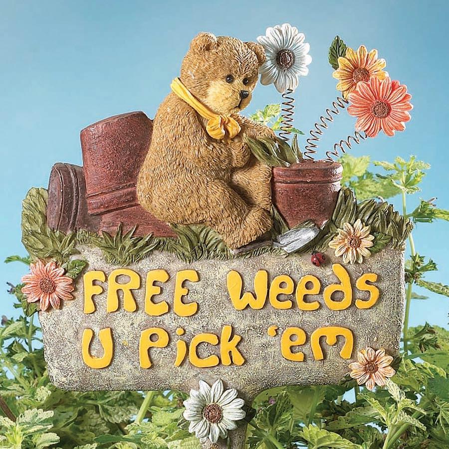 U Pick 'em Garden Stake Boyds Bear