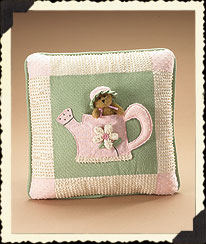 Valerie's Watering Can Pillow Boyds Bear