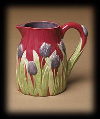 Vintage Garden One-quart Ceramic Pitcher Boyds Bear