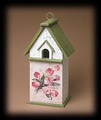 Vintage Garden Postcard Birdhouse Boyds Bear