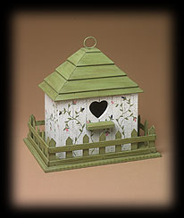 Vintage Garden Wooden Birdhouse Boyds Bear