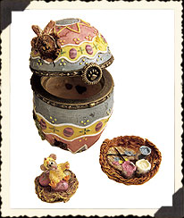 Watson's Fabearlous Egg W/peep Mcnibble Boyds Bear