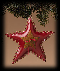 Whip-stitched Star Ornament Boyds Bear