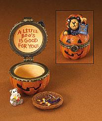 Whisker's Jack-o-lantern W/boo Mcnibble Boyds Bear