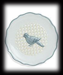 Whisper Soft Bird Decorative Plate Boyds Bear