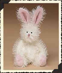 White Bloomin' Bunny W/pink Ears Boyds Bear