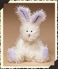 White Bloomin' Bunny W/purple Ears Boyds Bear