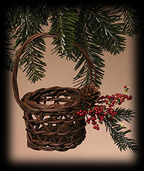 Winter Briar Basket Ornament Boyds Bear