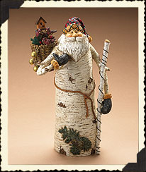 Woodland Santa Claus W/basket Boyds Bear