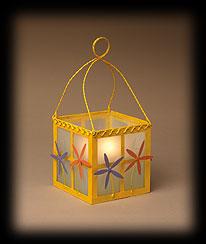 Yellow Flowers And Herbs Glass Lantern Boyds Bear